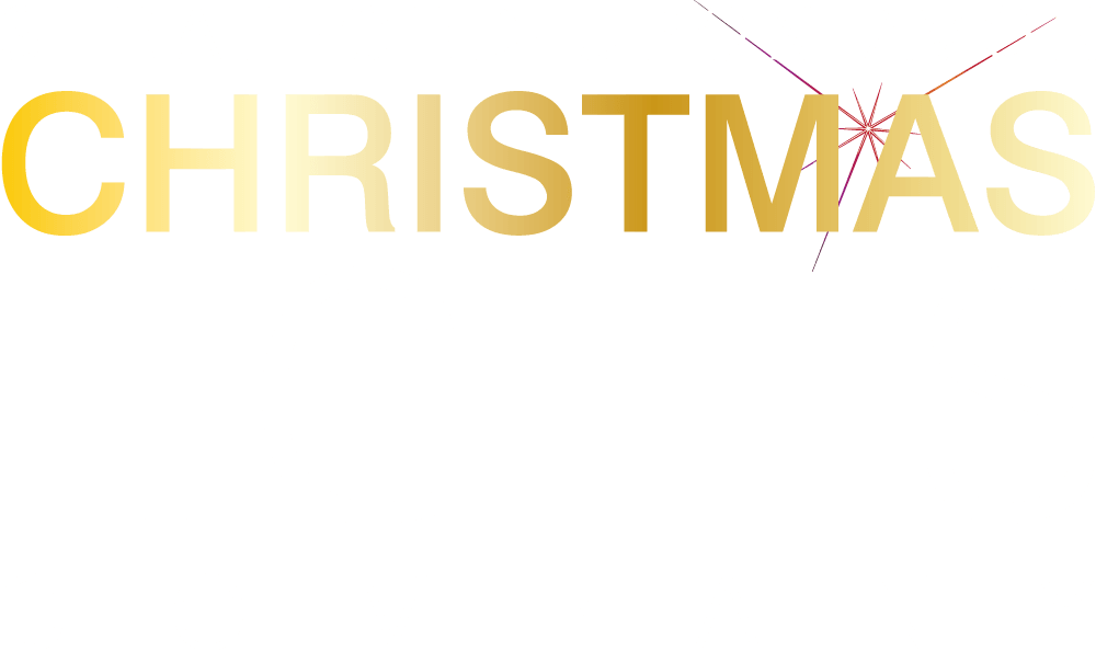 Christmas Lights Logo Text